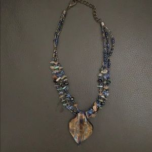 Delightful beaded necklace and pendant